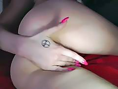 Fingering pussy and tease blowjob